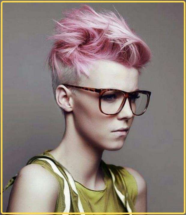 pink and short hair