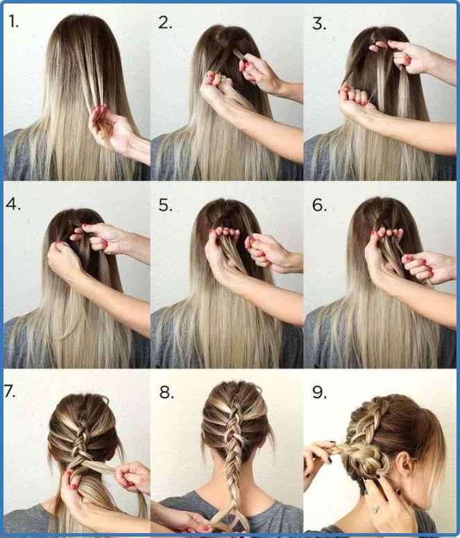 steps of styling braids hair