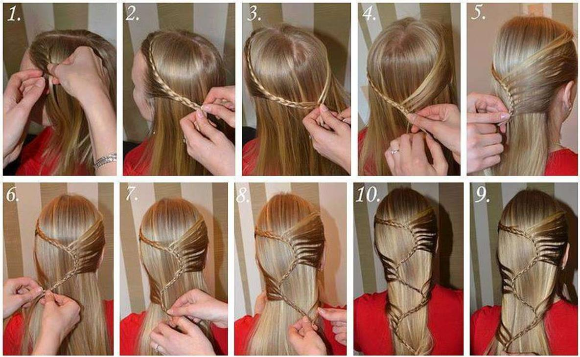 steps of styling braids